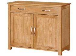 Newark Oak 1 Drawer + 2 Door Cupboard http://solidwoodfurniture.co/product-details-oak-furnitures-3488-newark-oak-drawer-door-cupboard.html