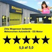 Zitta Mogensen anbefaler værkstedet Mekonomen Autoteknik - ES Motor i Brøndby. Bedømmelse: 5,0 af 5,0