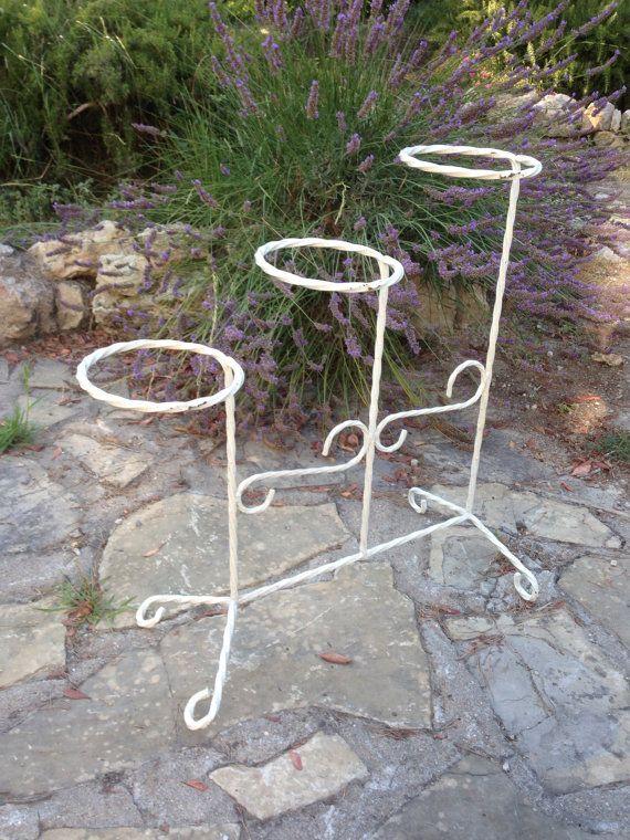 Porte-jardinières vintage en fer forgé par oldfrenchmemories