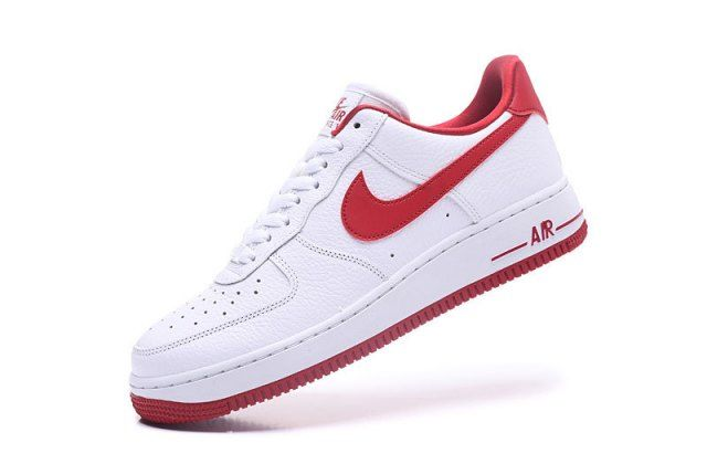 Nike Air Force 1'07 White Red Unisex Sneakers Shoes AA0287