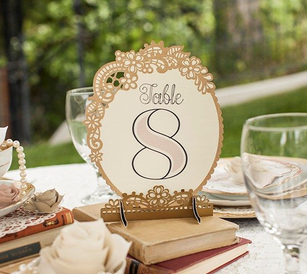 Table Numbers - Vintage Wedding