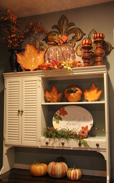 fall #ThanksGiving #Home #Decor ༺༺  ❤ ℭƘ ༻༻
