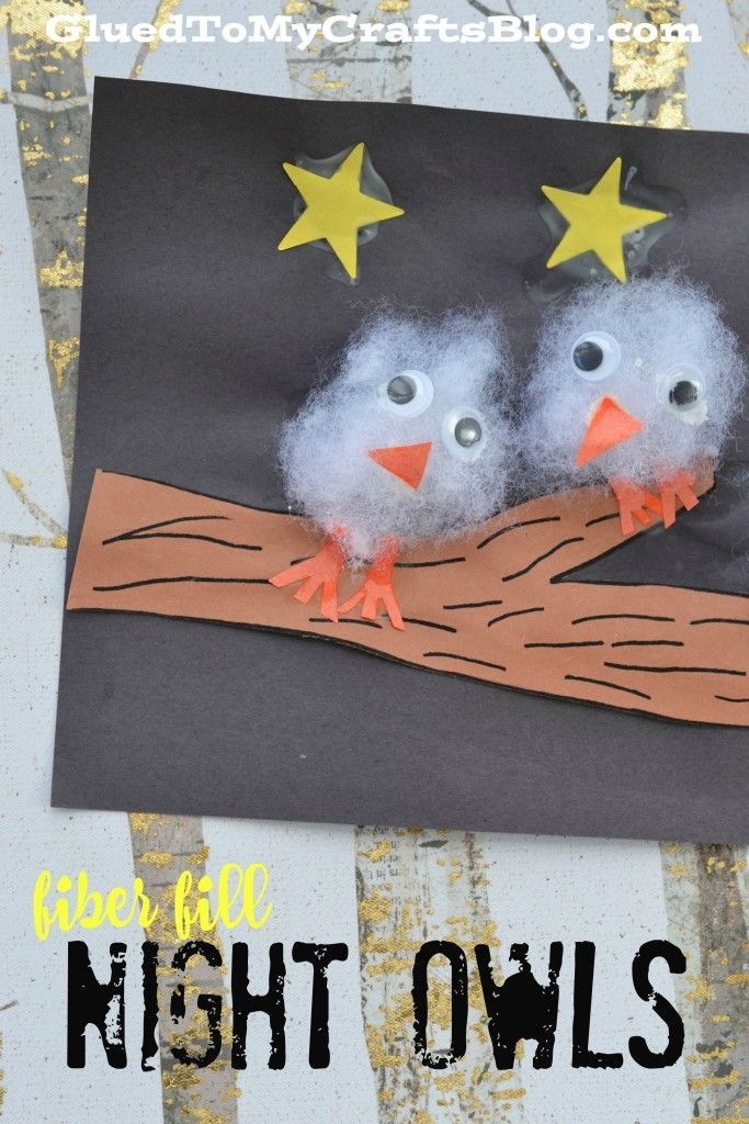 Fiber Fill Night Owls - Kid Craft