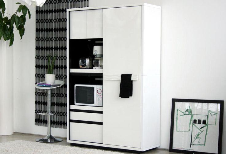 WHITE TIGRE_シンプルモダン キッチンボード(食器棚・キッチンボード ... 利用例3