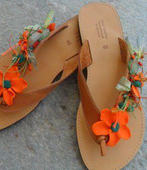 handmade greek sandals