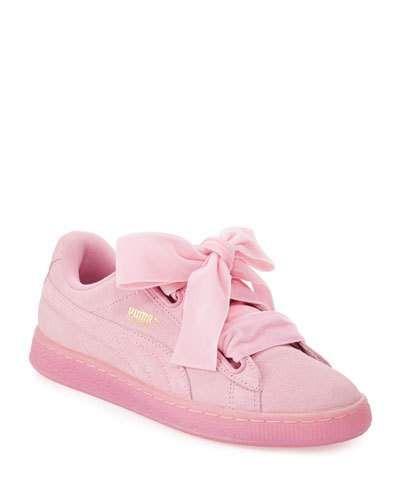 PUMA Suede Heart Reset Sneaker, Pink. #puma #shoes #