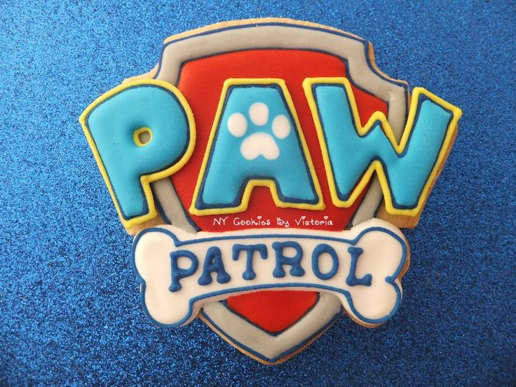 (1) Paw Patrol Logo Cookie - NY Cookies By Victoria