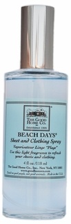 The Good Home Co. | Beach Days Sheet & Clothing Spray  Best beach scent. I put the vacuum beeds in a small bowl right under my kitchen and bathroom window.