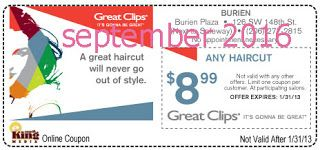 Free Printable Coupons: Great Clips Coupons                                                                                                                                                     More