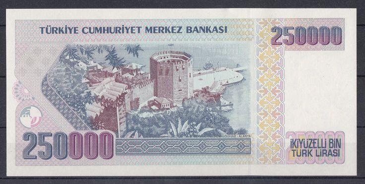 E7 İKİYÜZELLİ BİN TÜRK LİRASI I. TERTİP Tedavüle Çıkarıldığı Tarih02.10.1992 Tedavülden Çekildiği Tarih01.01.2006 Ön yüzAtatürk Portresi Arka yüzKızıl Kule (Alanya/Antalya)
