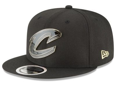 a27fae70937 Cleveland Cavaliers New Era NBA Black Enamel 9FIFTY Snapback Cap ...