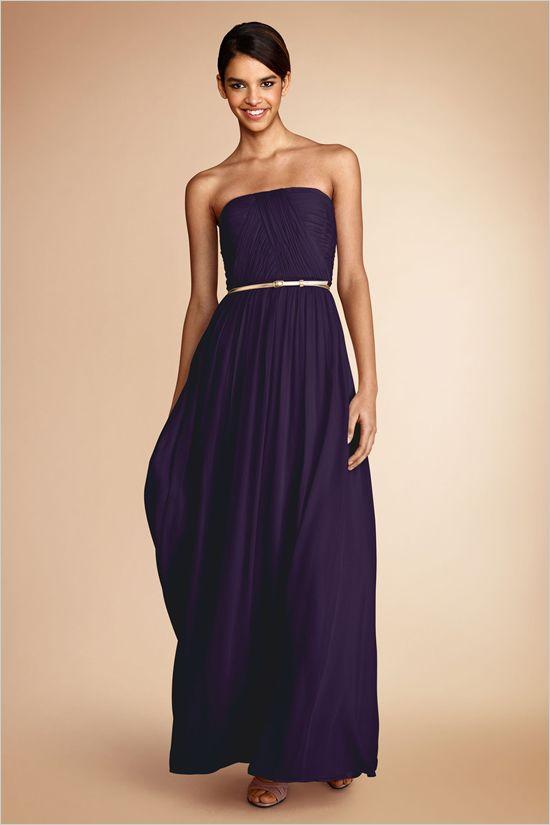 purple bridesmaid dress by Donna Morgan