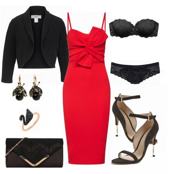 Abend Outfits: Boohoo red bei FrauenOutfits.de #abendoutfit #nightout #datenight #fahioninsta