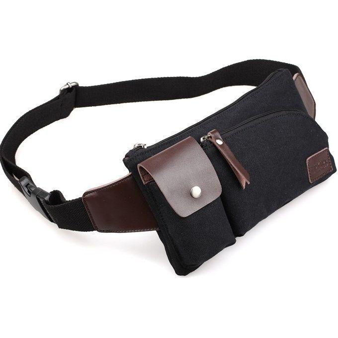 Free Shipping Male Canvas bag Men Messenger Bags purse waist bag fanny pack $33.89