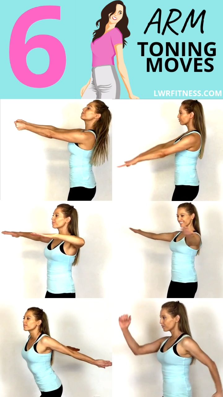 ARM WORKOUT FOR WOMEN – no weight, no equipment arm workout to tone your arms.