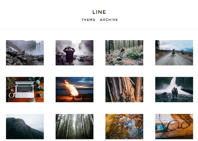 Line | Grid Tumblr Theme