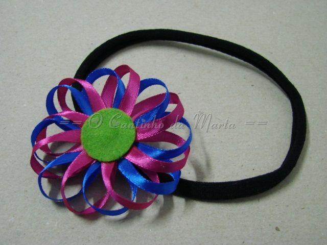 Bandolete Elástica com Flor