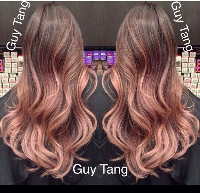 The best Rose Gold Ombre' by Guy Tang. He spent 9 hrs creating this color correction
