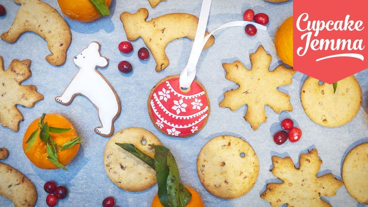 Christmas Cranberry & Clementine Cut-Out Cookies | Cupcake Jemma