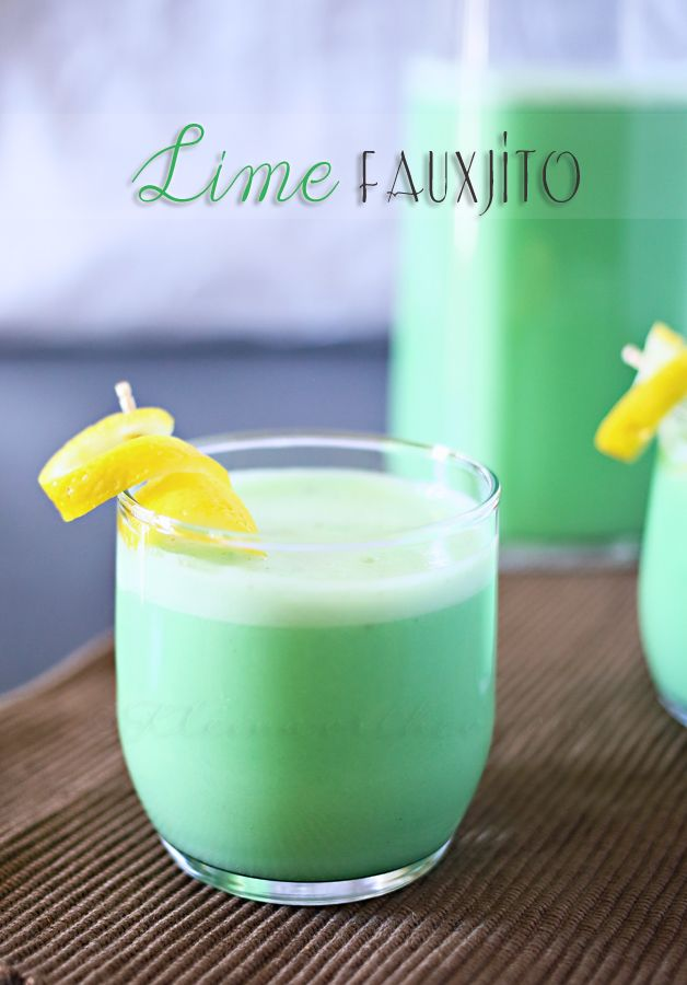 Delicious { non alcoholic } Lime Fauxjito Recipe by kleinworthco.com #recipe