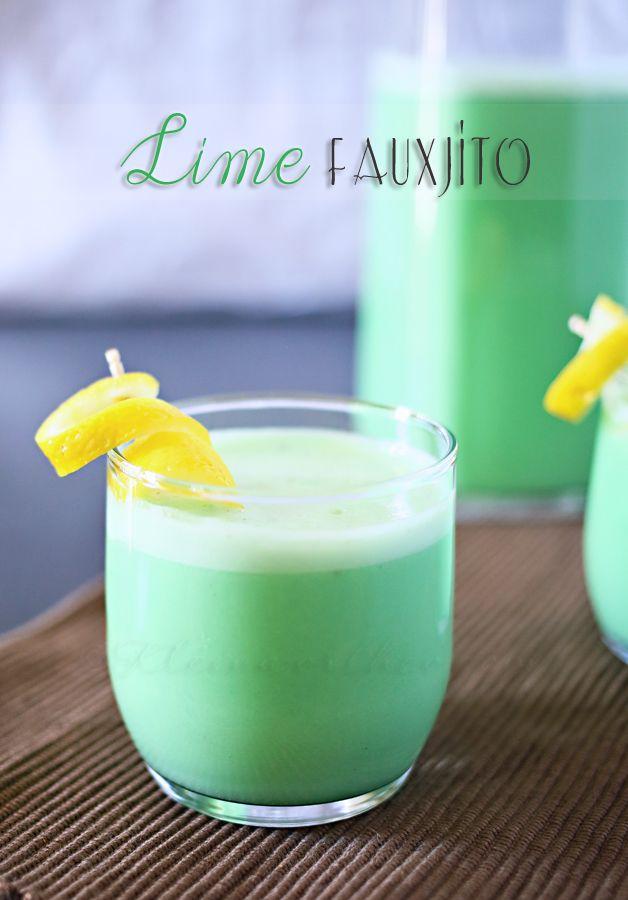 Delicious { non alcoholic } Lime Fauxjito Recipe by kleinworthco.com #recipe