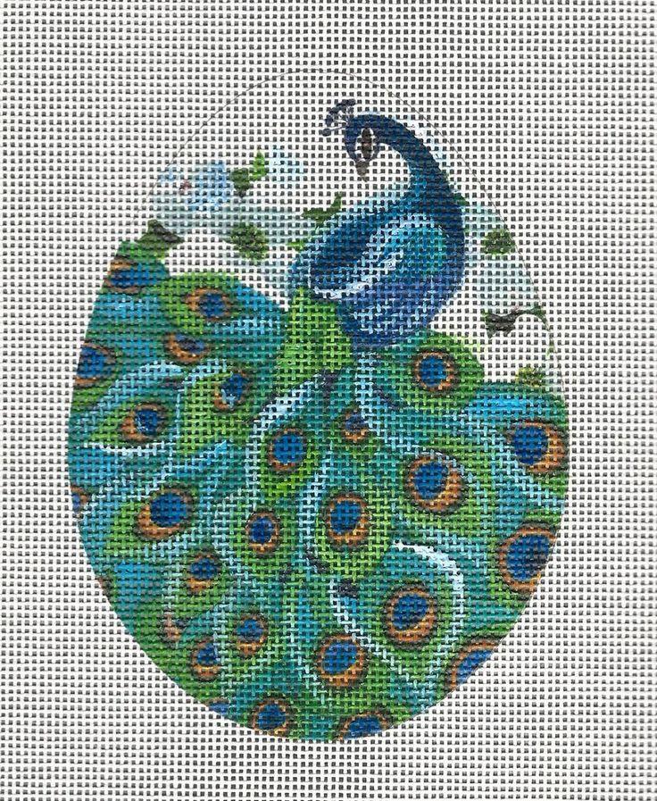Peacock Egg HP Needlepoint Canvas #Judyann