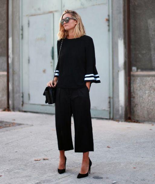 culottes and heels