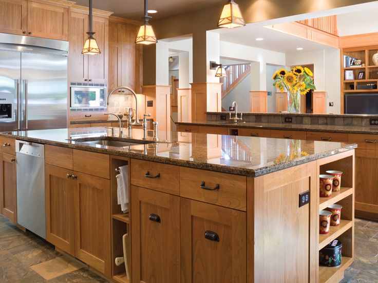Wood Kitchen Layouts From The  S