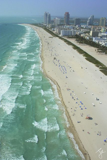 South Beach Shore - Aerial Photography by HELICOPTERS OVER MIAMI - Joe Reyes, via Flickr