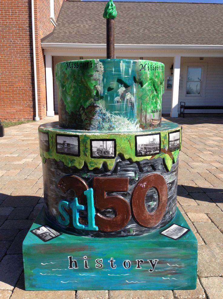 St. Louis' 250th Birthday Cake - at the St. Charles County ...