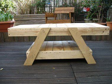 25 best ideas about table jardin bois on pinterest table exterieur bois table picnic bois - Table jardin pliante bois marseille ...