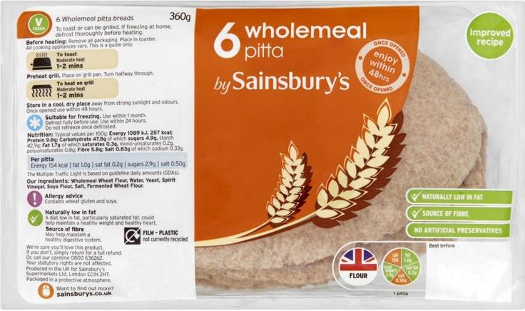 Sainsbury's Wholemeal Pitta (6)