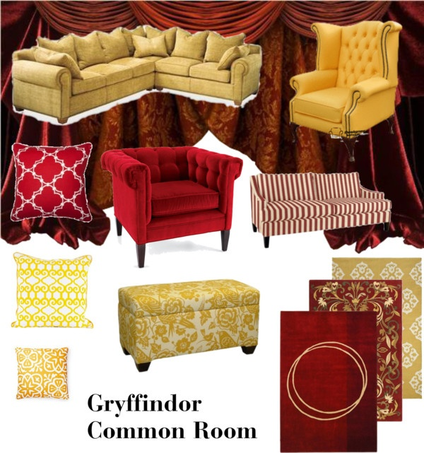 Gryffindor Common Room, Created By Kristajayec On Polyvore
