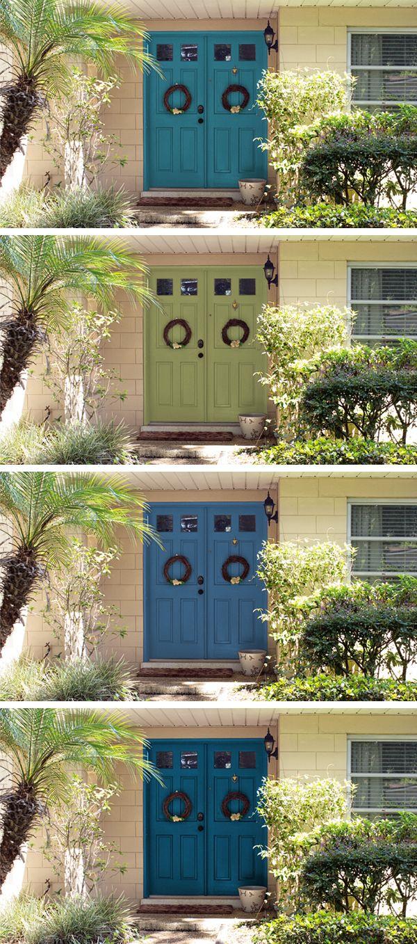 Painted Front Doors | Sarah Hearts