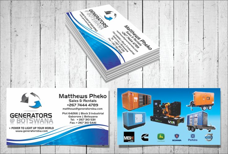 A strong business card design is easy to read and without any clutter to ensure the message is clear.