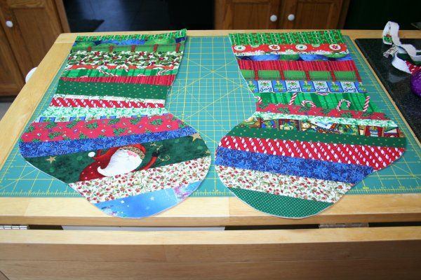 Quilt-as-you-go Christmas stocking tutorial