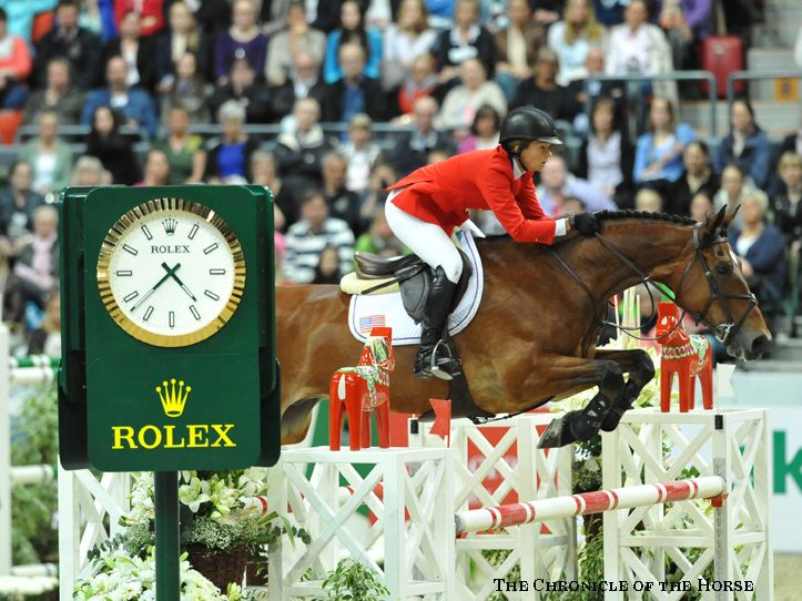 Beezie Madden and Simon win the 2013 Rolex FEI Show Jumping World Cup. Photo by Mollie Bailey/The Chronicle of the Horse. || http://chronofhorse.com/subscribe