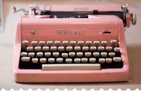 typewriter: Style, Stuff, Pink Vintage, Vintage Pink, Vintage Wardrobe, Pink Typewriters, Vintage Typewriters, Things, Pretty