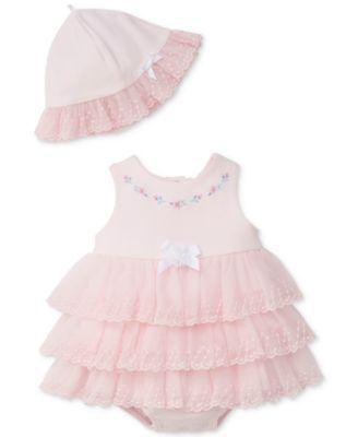 Little Me 2-Pc. Sweet Rose Popover Bodysuit   Hat 2b8690bff389