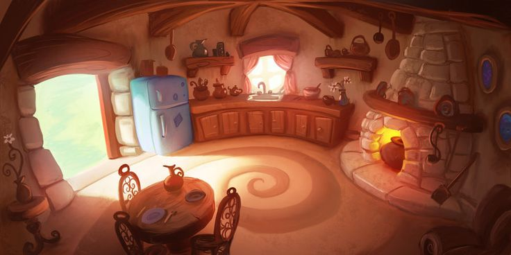 Cute cozy house / Casa calda e accogliente - (SmurfKitchen by jermilex on deviantART)