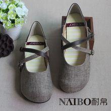 """Venta caliente, nuevos 2016 estilo japonés Hemp Weave zapatos hechos a mano, """" para mujer Sen """" zapatos casuales, de tacón bajo retro ocio, 3 colores(China (Mainland))"""