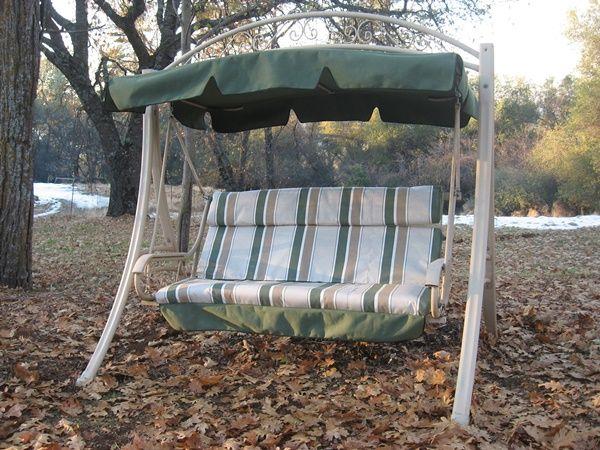 40 Magical Garden Swing Ideas Arts Patio Swing Outdoor Glider
