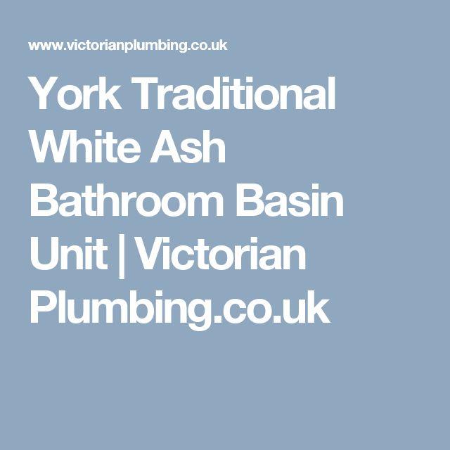 York Traditional White Ash Bathroom Basin Unit   Victorian Plumbing.co.uk