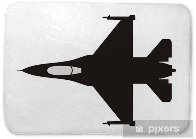 Silhouette Illustration Of Jet Fighter F 16 Bath Mat Pixers We Live To Change Silhouette Illustration Illustration Fighter Jets