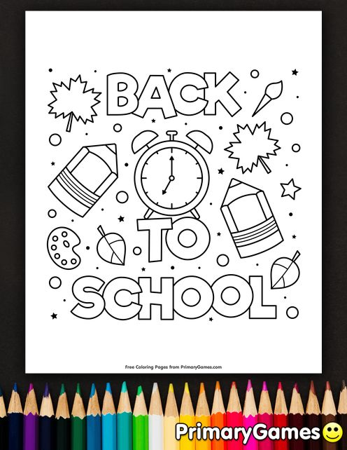 Again To College Coloring Pages eBook: Again To College