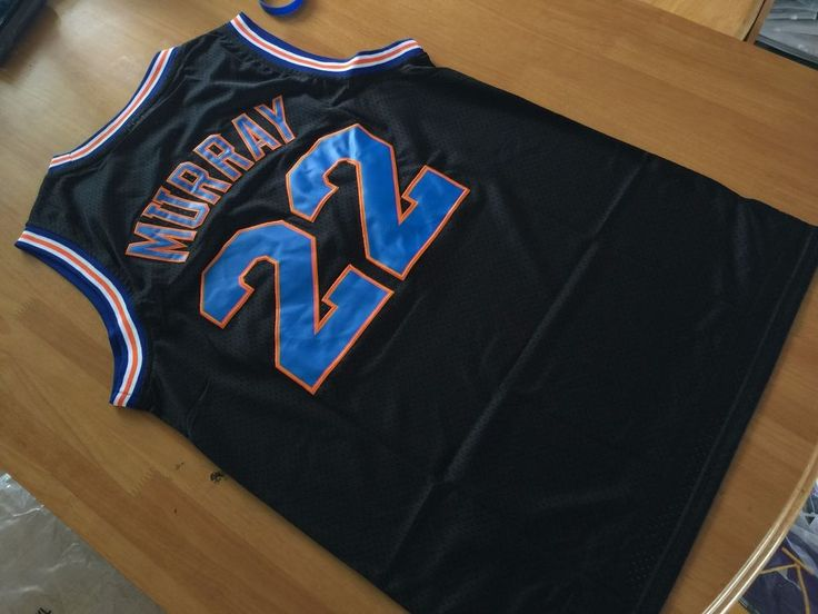 5e36a4abc18f49 ... bill murray space jam jersey shirt tune squad 22 movie black basketball  new