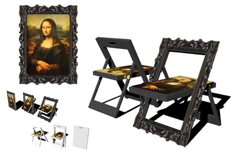 Transformer Furniture: Chair Turns into Mona Lisa :