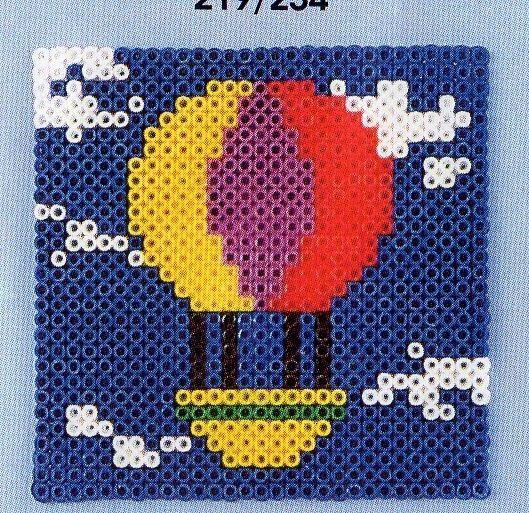 Hot-air balloon hama perler pattern