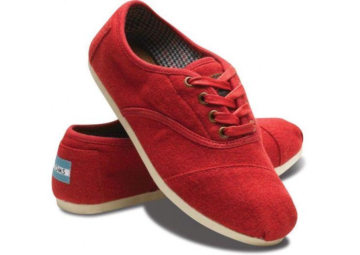 Red Wool Women's Cordones $69: Toms Cord, Red Wool, Fashion, Red Shoes, Toms Shoes, Red Toms, Toms Red, Cordon Women, Wool Cordon