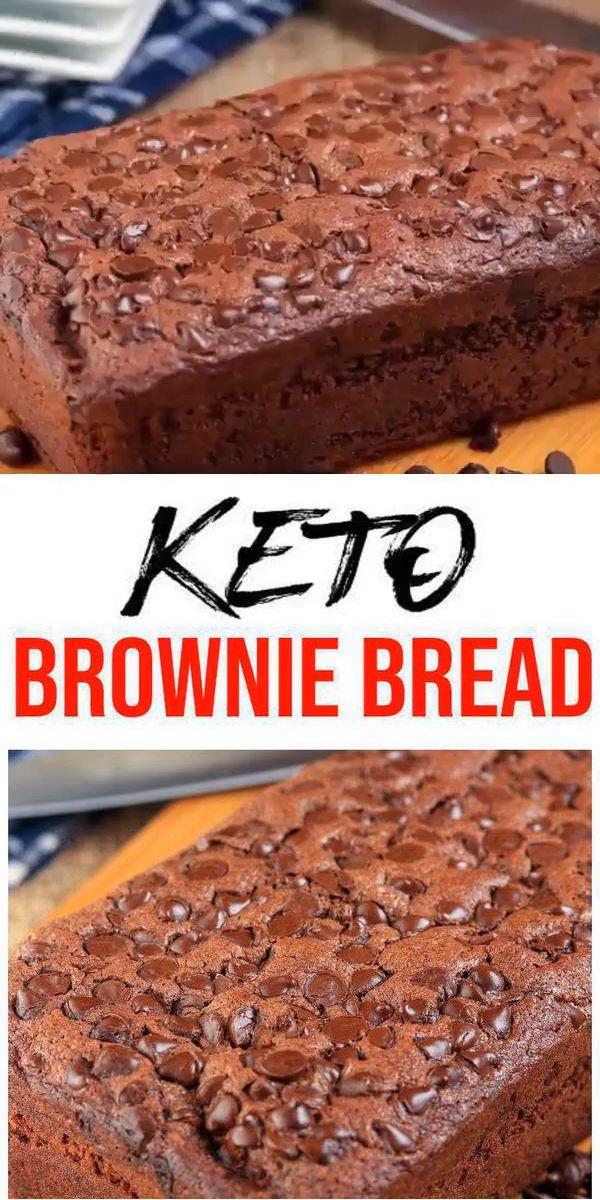 BEST Keto-Brot! Low Carb Schokoladen Brownie Laib Brot Idee – Schnell & Einfach Ketogene Diät Rezept – Komplett Keto-freundlich – Glutenfrei – Zuckerfrei